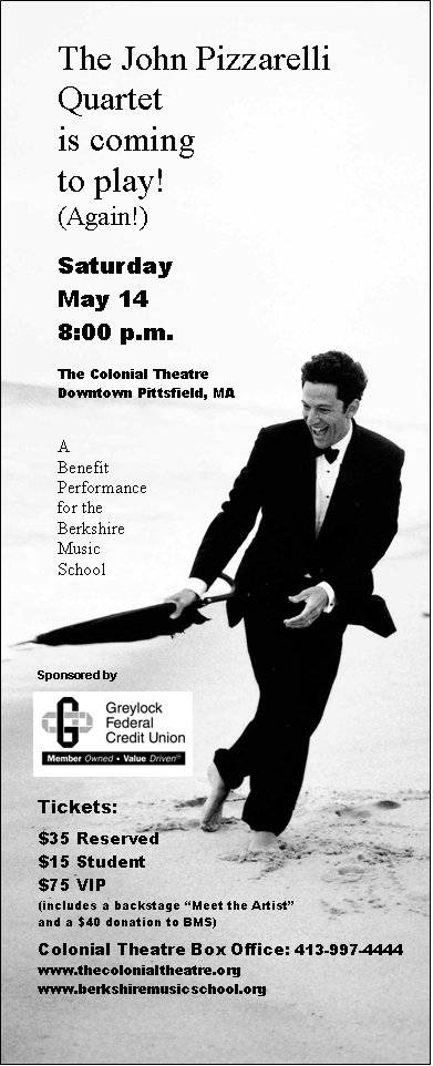 John Pizzarelli to play Berkshire Music School benefit at Colonial Theatre