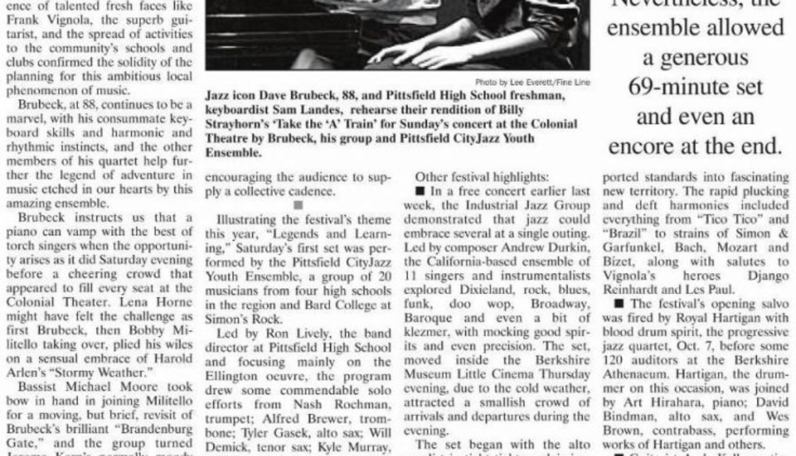 Richard Houdek review of Dave Brubeck