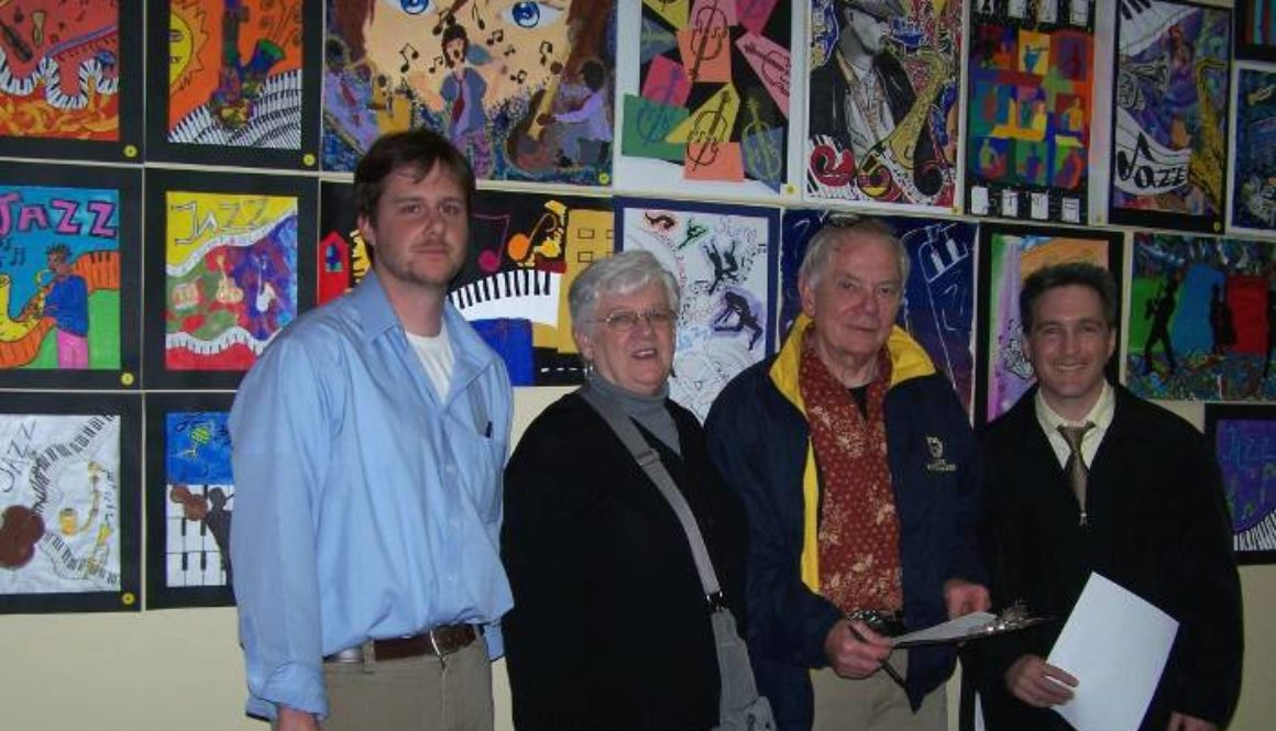 Student art contest judges