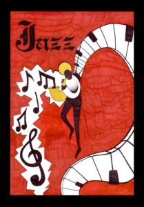 John Krebs, PHS, winning entry Berkshires Jazz art contest.