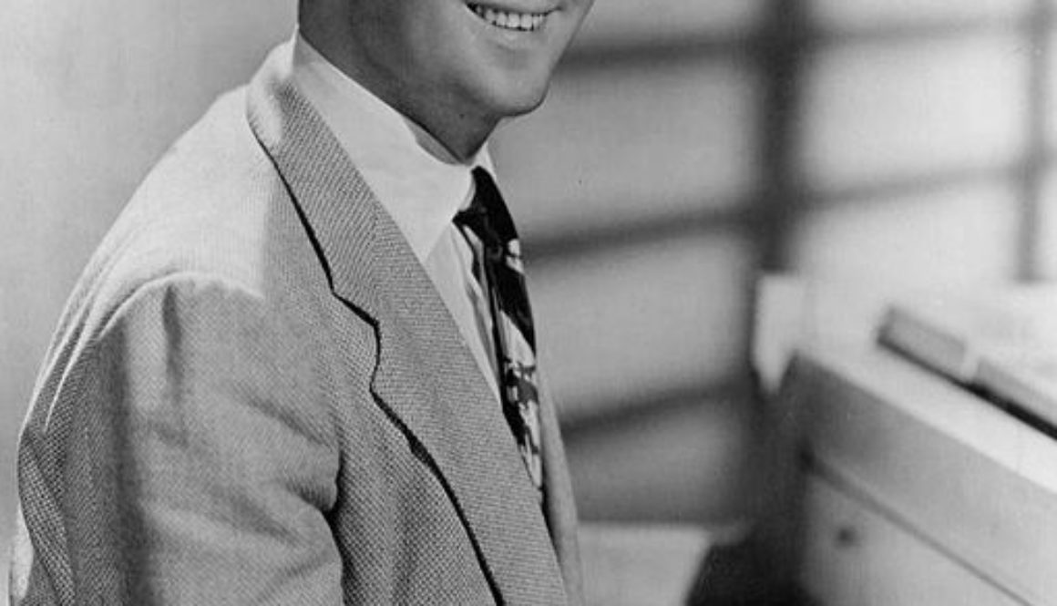 George Shearing, 1959; photo by James Kriegsmann.